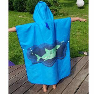 Born To Swim Poncho Ručník S Kapucí Pro Děti Barva: Modrá, Velikost: